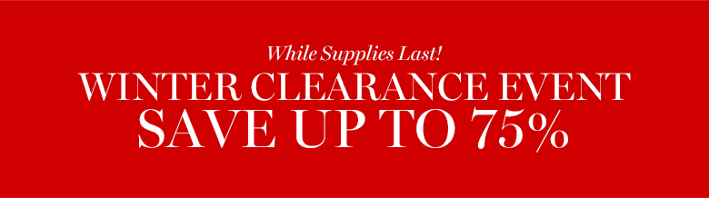 Winter clearance event*