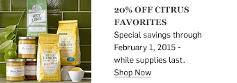 20% off citrus favorites >