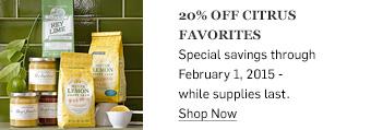 20% off citrus favorites >