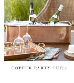 Copper Party Tub