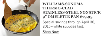 WS Thermo-Clad Stainless-Steel Nonstick Omelette Pan >