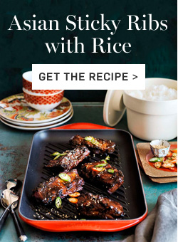 Asian Sticky Ribs with Rice- Get the Recipe >