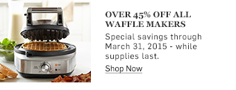 Over 45% off all waffle makers