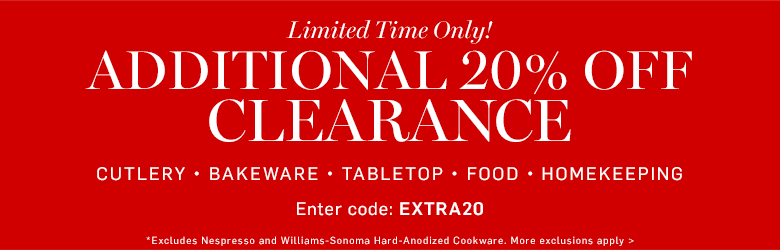 Additional 20% off clearance >