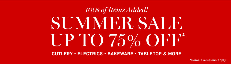 Summer Sale up to 75% off*