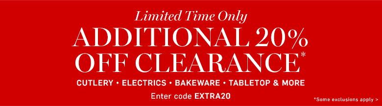 Additional 20% off clearance*