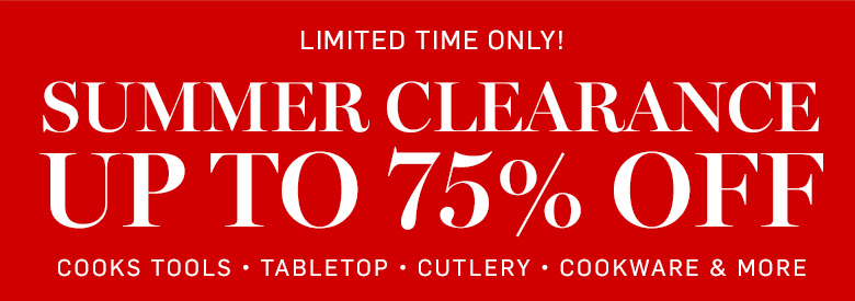 Summer Clearance - Up to 75% Off