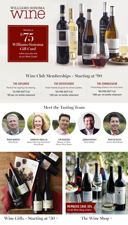 Williams-Sonoma's Wine Club