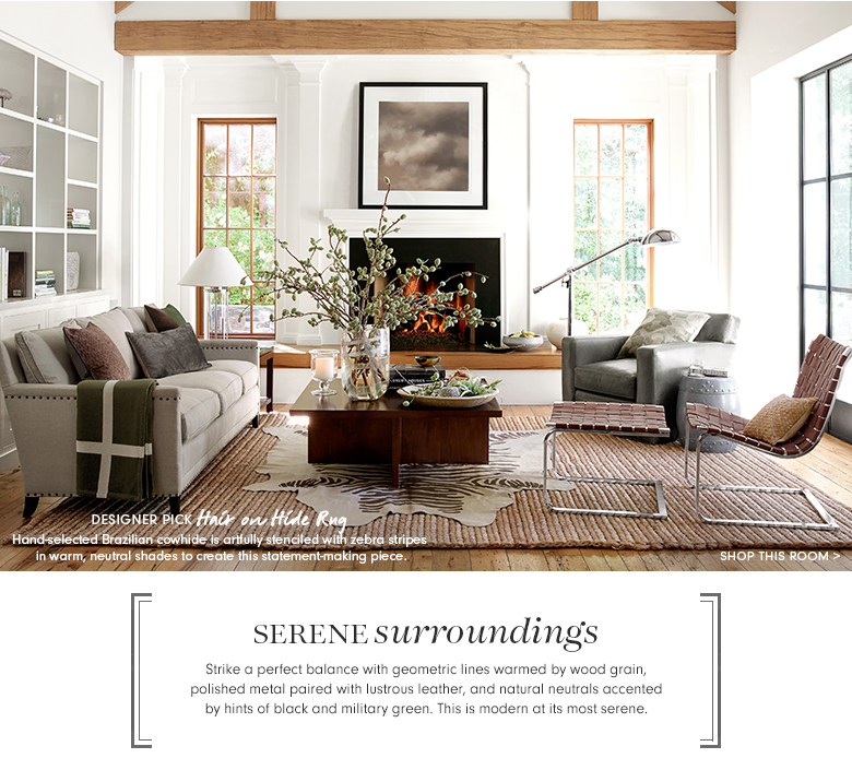 Serene Surroundings - Shop This Room >