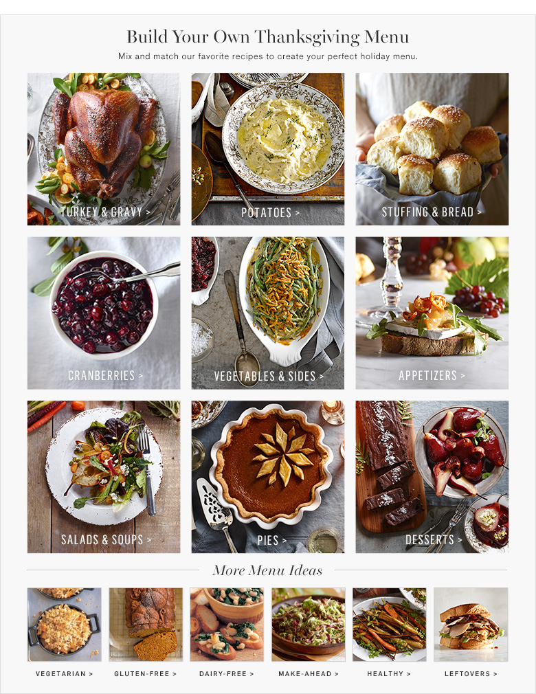 Build Your Own Thanksgiving Menu