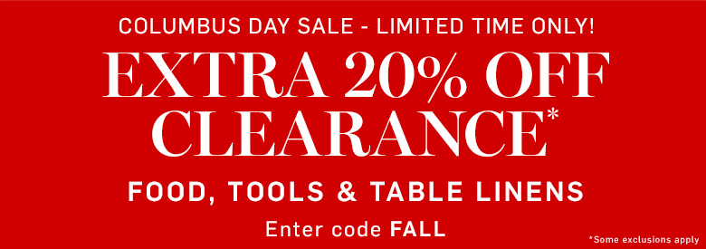 Extra 20% off Clearance* Use Code: FALL