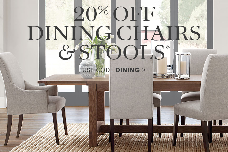 20% off Dining Chairs & Stools* with code DINING >