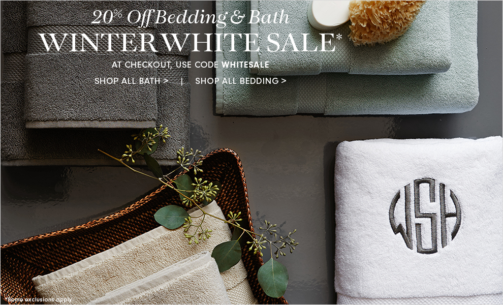 White Sale - 20% Off