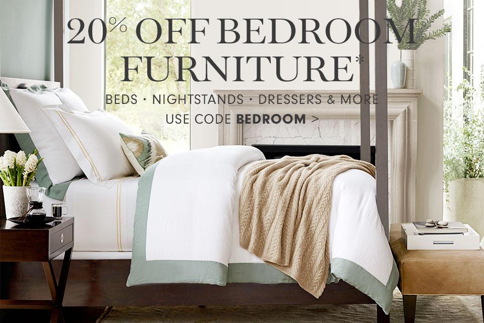 20% off bedroom furniture* with code BEDROOM >