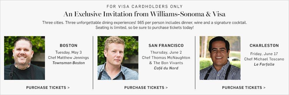 An Exclusvie Invitation from Williams-Sonoma & Visa