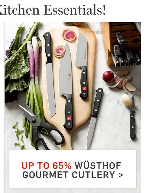 Up to 65% off Wusthof Gourmet Cutlery >