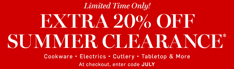 Williams-Sonoma - Extra 20% off Clearance* with code JULY
