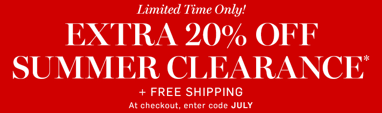Williams-Sonoma - Extra 20% off Clearance* + Free Shipping with code JULY