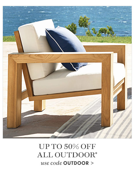 Up to 50% off select outdoor* - use code OUTDOOR