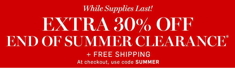Williams-Sonoma - Extra 30% off End of Summer Clearance* + Free Shipping with code SUMMER