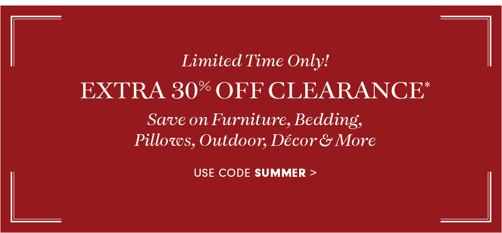 Extra 30% Off Clearance