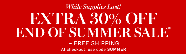 Williams-Sonoma - Extra 30% off End of Summer Sale* + Free Shipping with code SUMMER