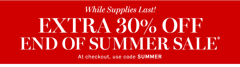 Williams-Sonoma - Extra 30% off End of Summer Sale* with code SUMMER