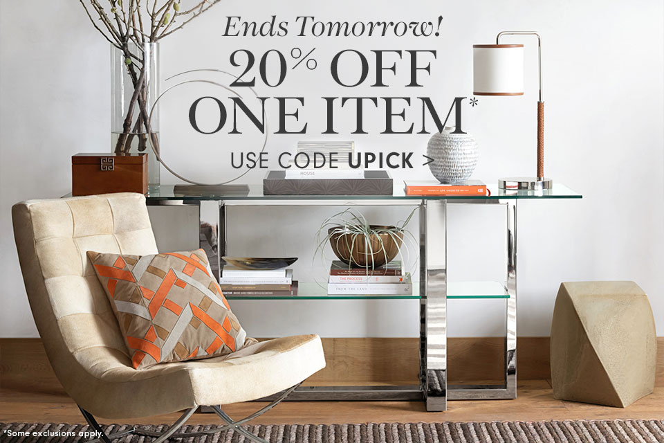 20% Off One Item* use code UPICK
