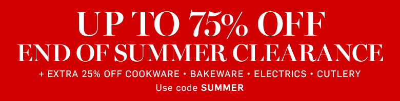 Up to 75% Off End of Summer Clearance* + Extra 25% Off with code SUMMER