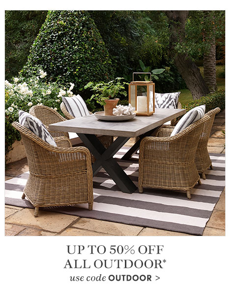 Up to 50% Off All Outdoor* - use code OUTDOOR >
