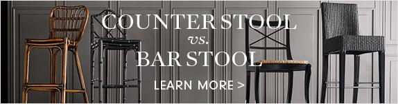 Counter vs. Bar Stool >