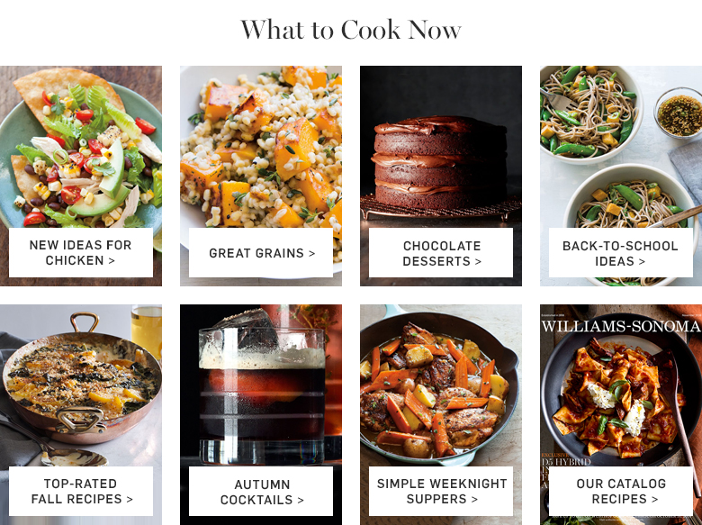What to Cook Now