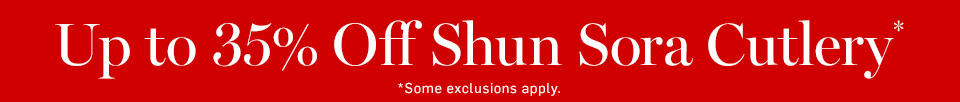 Up to 35% Off Shun Sora Cutlery*