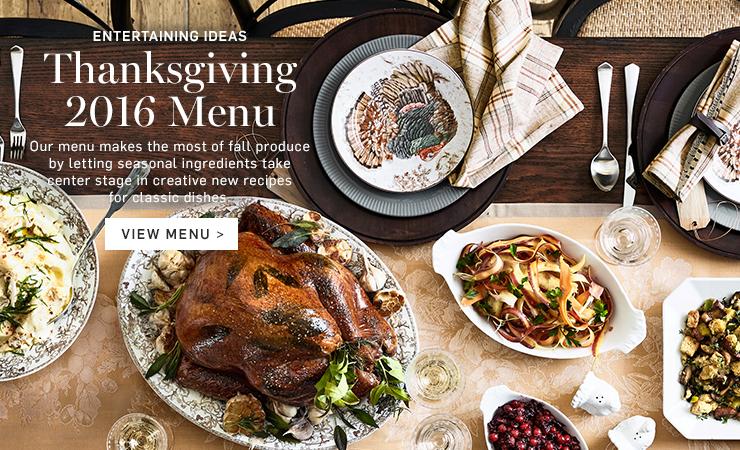 Thanksgiving 2016 Menu >