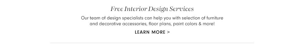 Free Interior Design Services >
