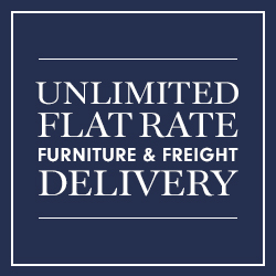 Unlimited Flat Rate Furniture & Freight Delivery