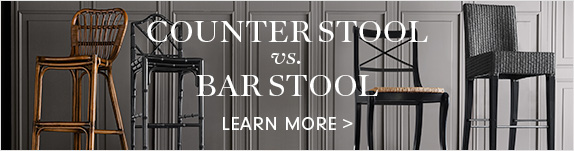 Counter vs. Bar Stool >