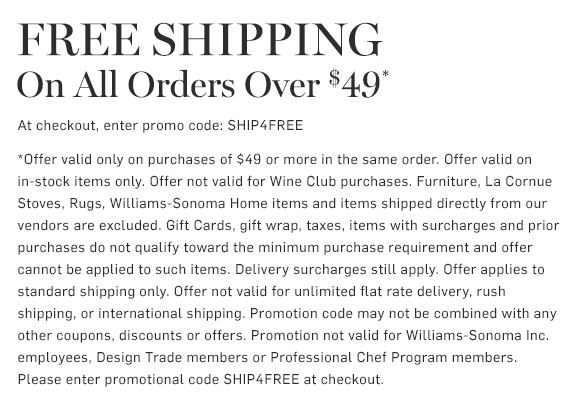 Free Shipping on all order over $49* - Use Code: SHIP4FREE