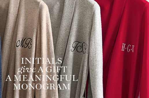 Initials give a Gift a Meaningful Monogram