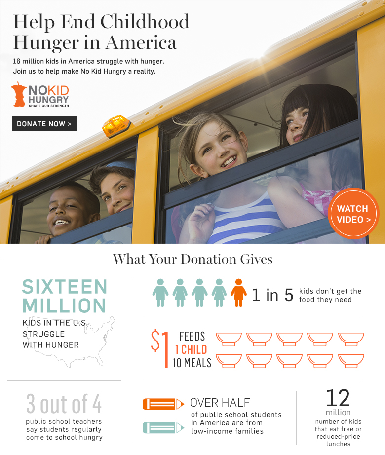 Help End Childhood Hunger in America - Donate Now >