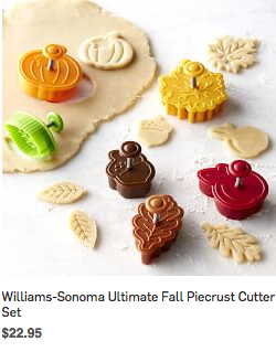 Williams-Sonoma Ultimate Fall Piecrust Cutter Set