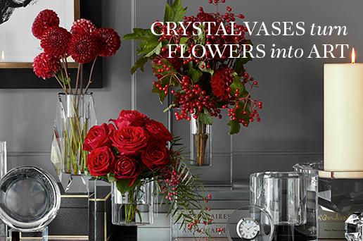 Crystal Vases Turn Flowers into Art