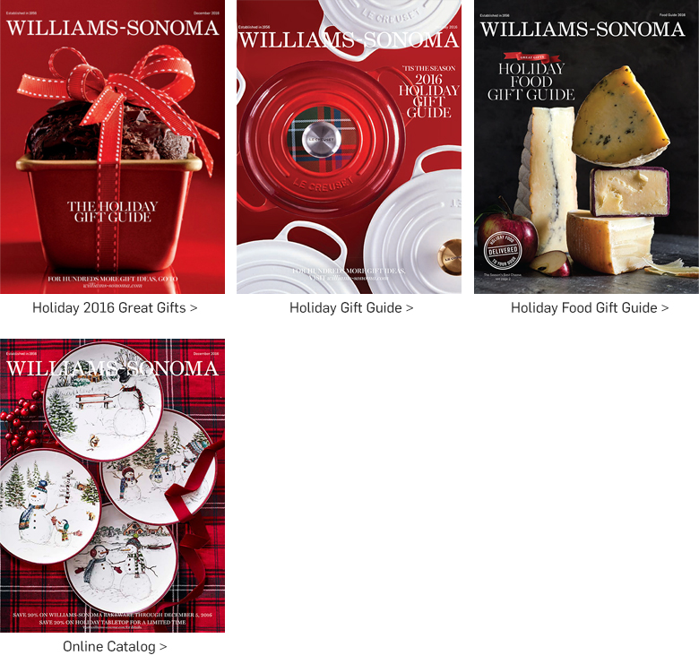 Williams-Sonoma Holiday Catalogs