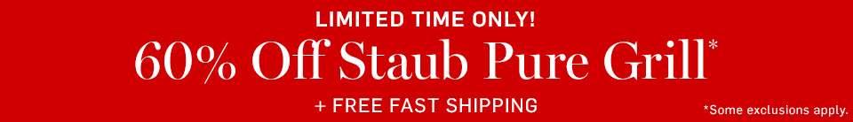 60% Off Staub Pure Grill + Free Fast Shipping