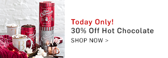 30% off Hot Chocolate