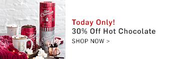 30% off Hot Chocolate