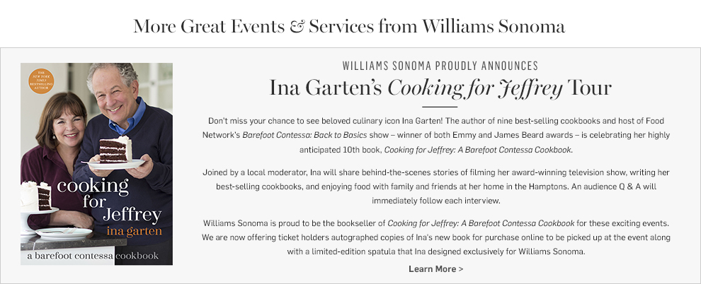Ina Garten's Cooking for Jeffrey Tour >