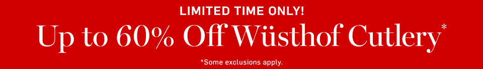 Up to 60% Off Wusthof Cutlery