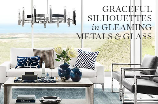 Graceful Silhouettes in Gleaming Metals & Glass