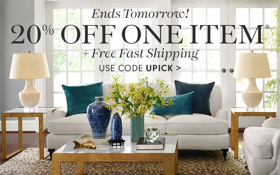 20% off One Item* + Free Fast Shipping with code UPICK >